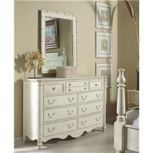 Fine Furniture Design Summer Home Dresser and Mirror Combo