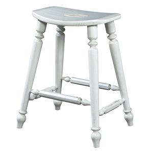 Fine Furniture Design Summer Home Saddle Counter Stool