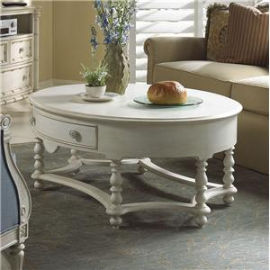 Elegant Oval Cocktail Table