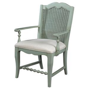 Fine Furniture Design Summer Home Wicker Back Arm Chair