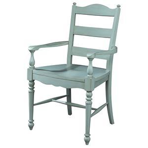 Fine Furniture Design Summer Home Ladderback Arm Chair