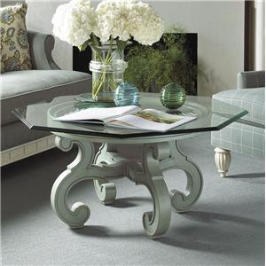 Elegant Glass Top Cocktail Table
