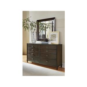 Aby Dresser with Felt-Lined Trays and Wesley Mirror