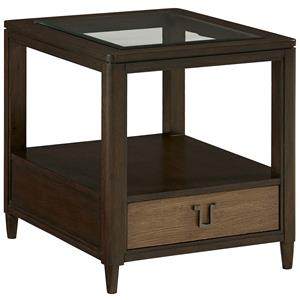 Paxton End Table with Glass Top