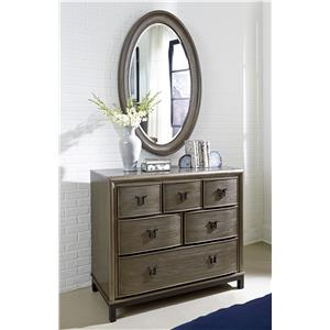Kai Dresser with Marble Top and Abram Mirror