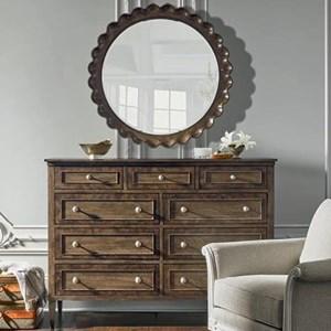Colfax Nine Drawer Dresser & Mirror Set