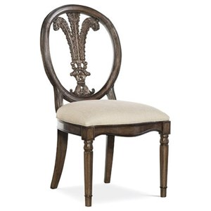 Montecito Side Chair with Carved Splat Back