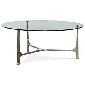 Aurora Cocktail Table with Tempered Glass Top