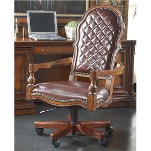 Swivel Tilt Chair with Leather Upholstery