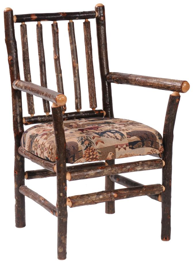 Hickory Arm Chair by Fireside Lodge at Mueller Furniture
