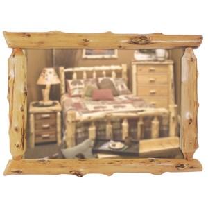 Cedar Half-Log Mirror