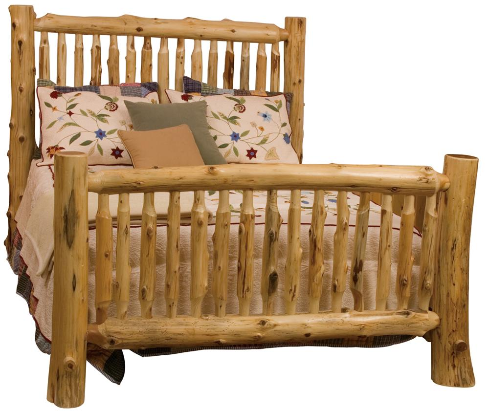10041 Small Spindle Log Bed by Fireside Lodge at Mueller Furniture