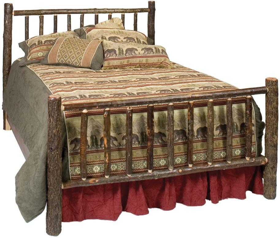 80040 Hickory Traditional Bed by Fireside Lodge at Mueller Furniture