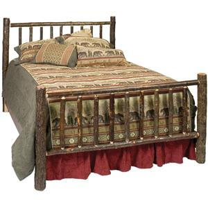 Hickory Traditional Queen Bed with Hand Crafted Design