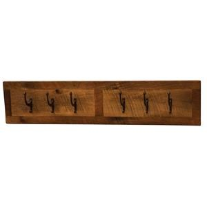 WALL COAT RACK WITH 6 PEGS