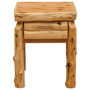 Rustic One Drawer Nightstand