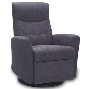 Small Relaxer Chair with 360 Degree Swivel and Rocker Recliner Base