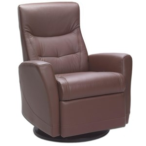 Small Motorized Relaxer Chair with Swivel and Rocker Recliner Base