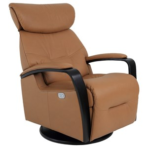 Small Power Swing Relaxer Recliner with Swivel Glide and Adjustable Headrest