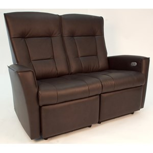 Motorized Wall Saver Loveseat with Track Arms