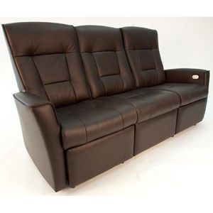 Motorized Wall Saver Sofa with Track Arms