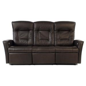 Power Reclining Wall Saver Leather Sofa with Track Arms