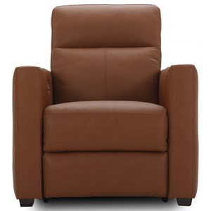 Contemporary Power Recliner with Power Headrest