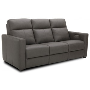 Contemporary Power Reclining Sofa with Power Headrests