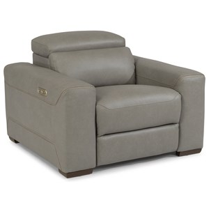 Contemporary Reclining Chair with Power Headrest