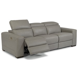 Contemporary Reclining Sectional Sofa with Power Headrests