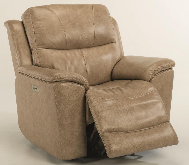 Cade Power Recline, Headrest & Lumbar Recliner by Flexsteel at Westrich Furniture & Appliances