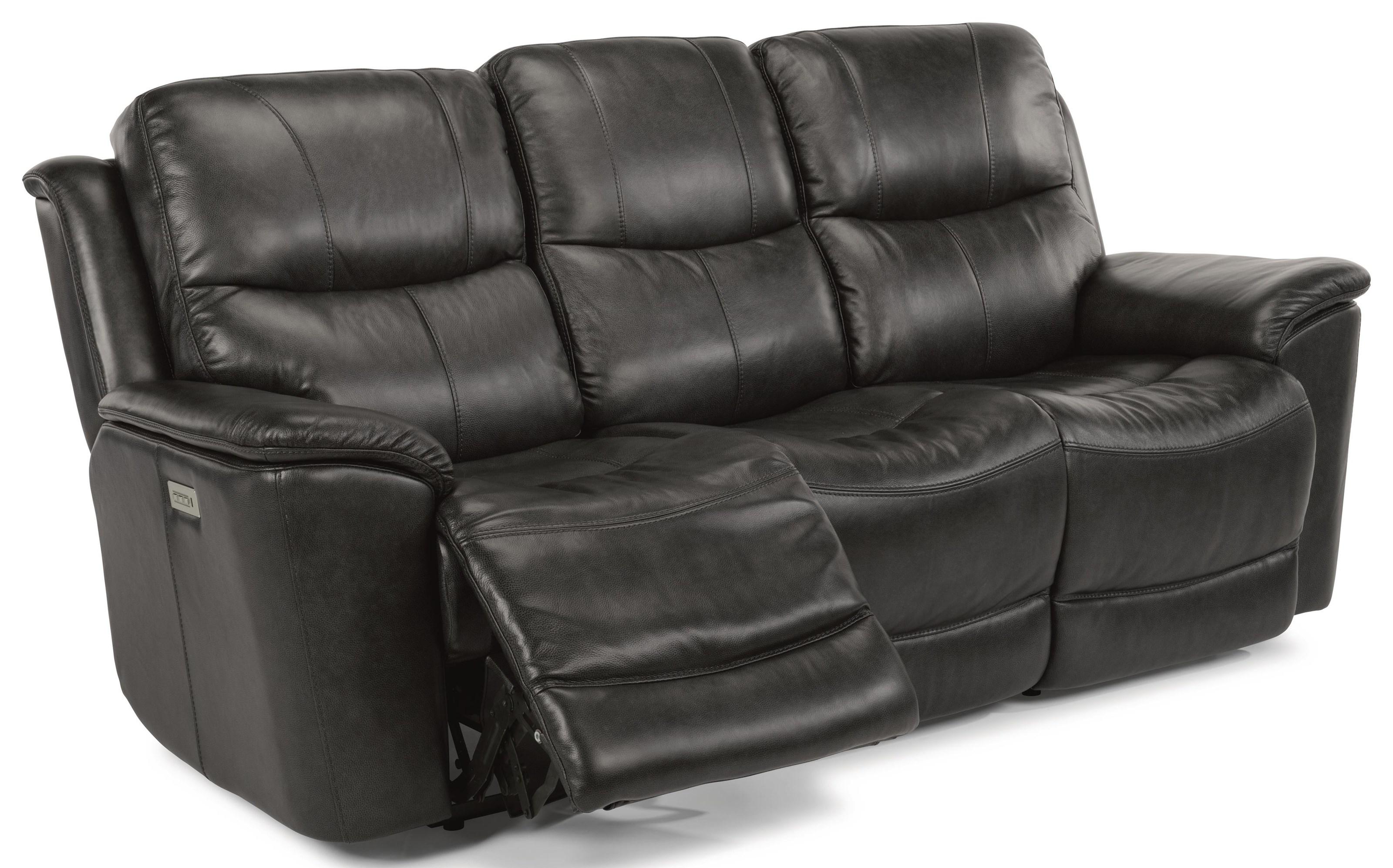 Cade Power Recline, Headrest & Lumbar Sofa by Flexsteel at Westrich Furniture & Appliances