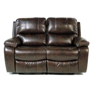 Double Power Reclining Love Seat with Pillow Arms