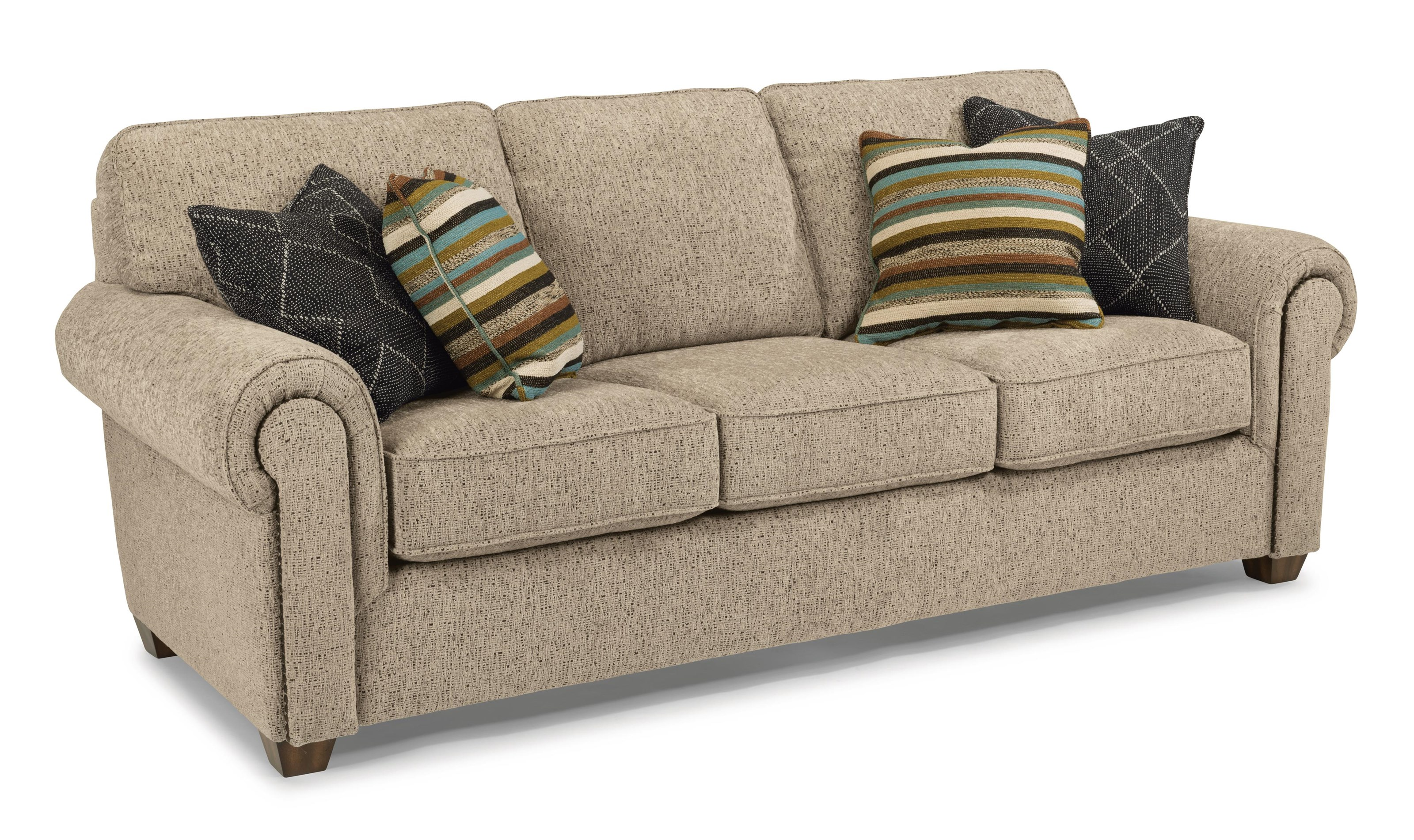 Carson Stationary Sofa by Flexsteel at Westrich Furniture & Appliances