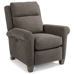 Casual Power High-Leg Recliner with Power Headrests and USB Ports