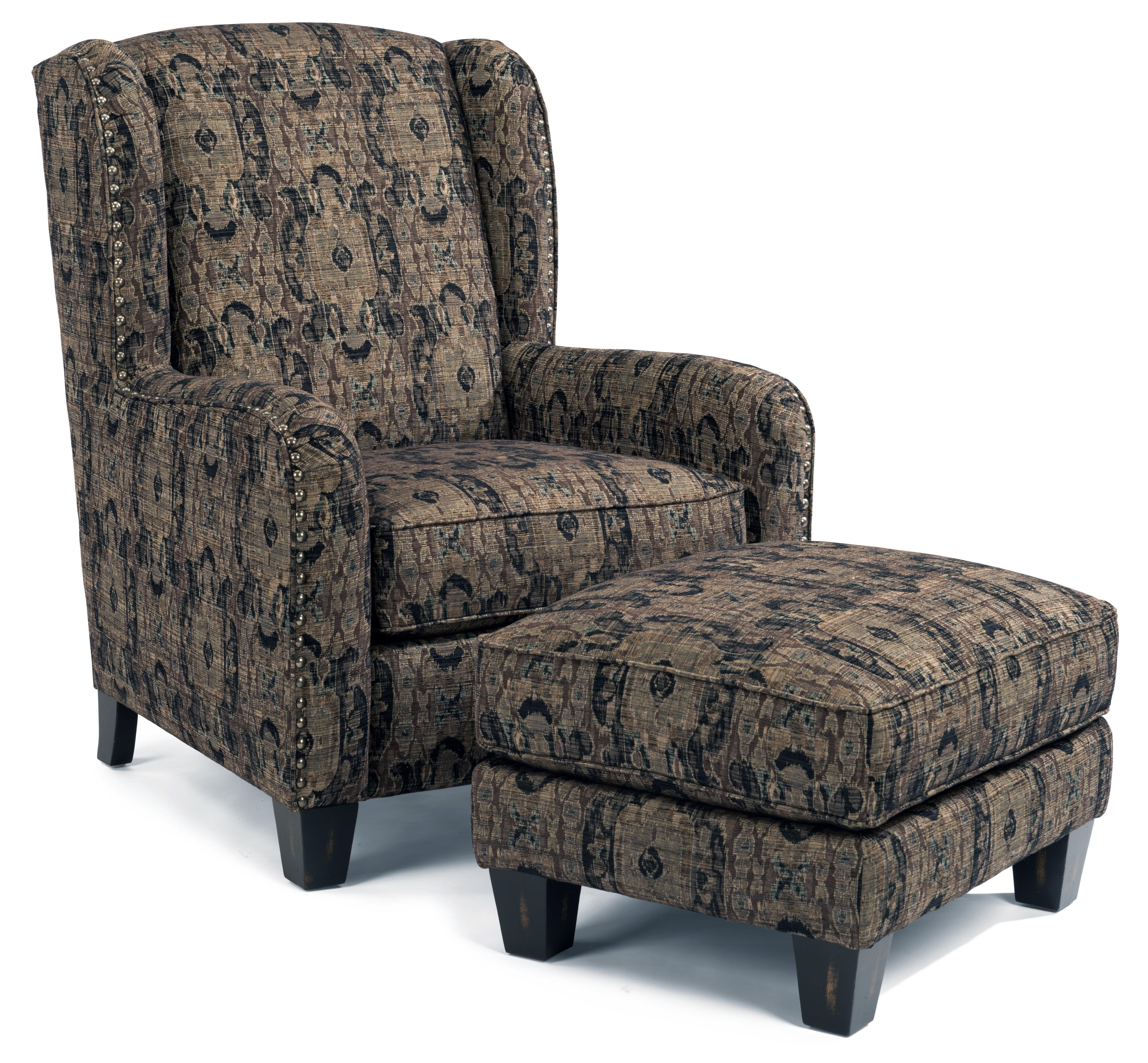 Accents Perth Chair and Ottoman by Flexsteel at Michael Alan Furniture & Design