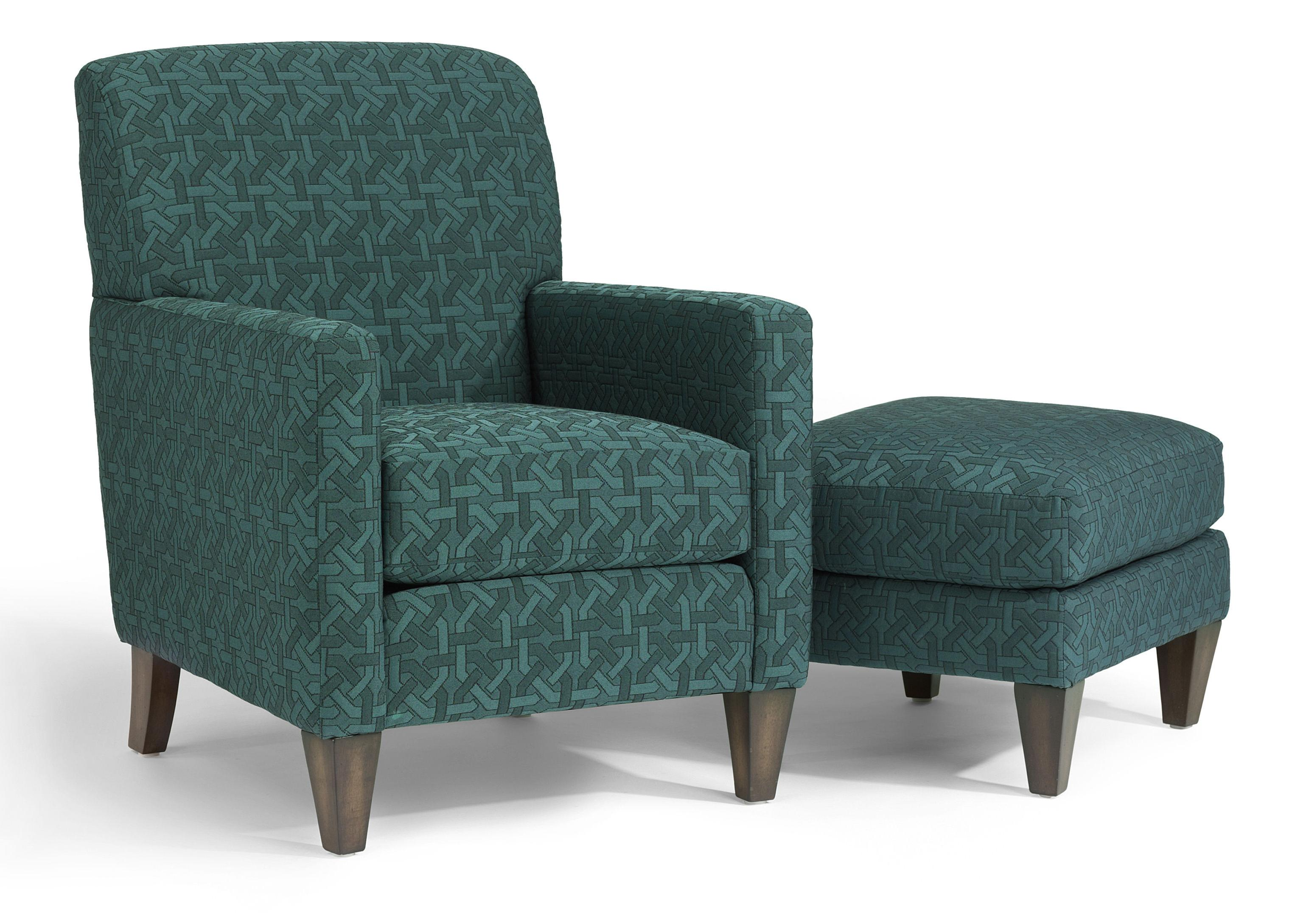 Accents Cute Chair and Ottoman by Flexsteel at Factory Direct Furniture