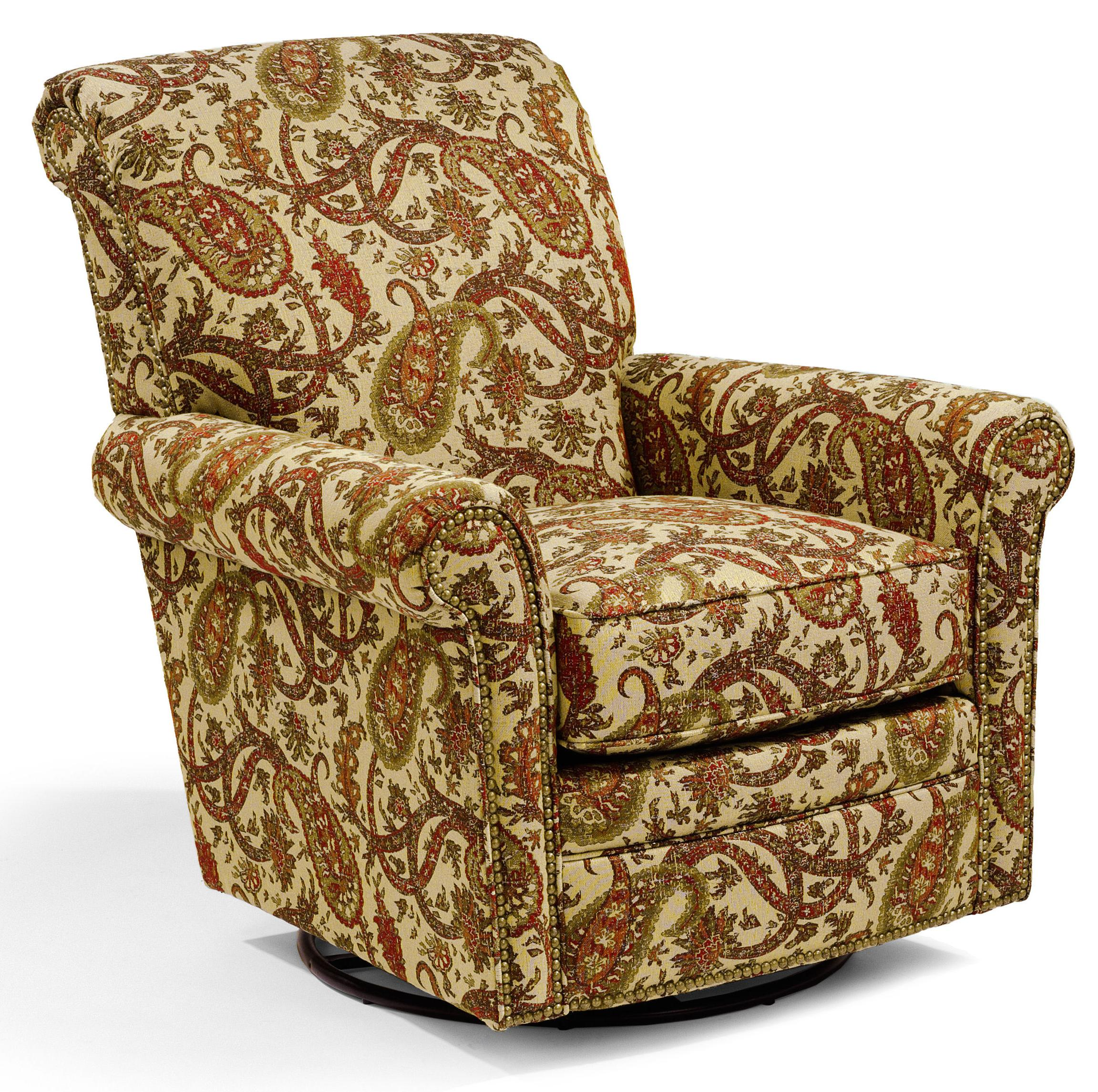 Accents Plaza Swivel Glider by Flexsteel at Williams & Kay