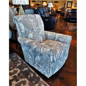 Plaza Swivel Glider with Nailhead Trim