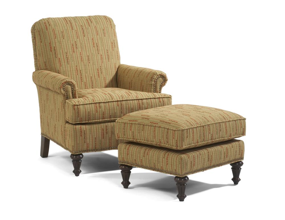 Accents Flemington Chair & Ottoman by Flexsteel at Furniture Superstore - Rochester, MN