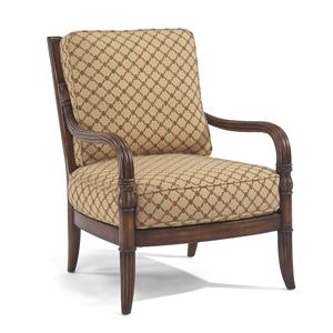 Flexsteel Accents Gable Upholstered Exposed Wood Chair