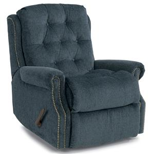 Davidson Wall Recliner with Button Tufting and Nailhead Trim