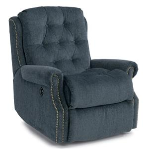 Davidson Power Wall Recliner with Button Tufting and Nailhead Trim