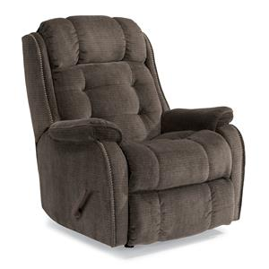 Cassidy Rocker Recliner with Transitional Detailing