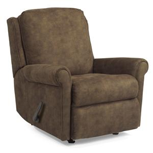Macy Swivel Glider Recliner with Rolled Arms and Waterfall Cushion