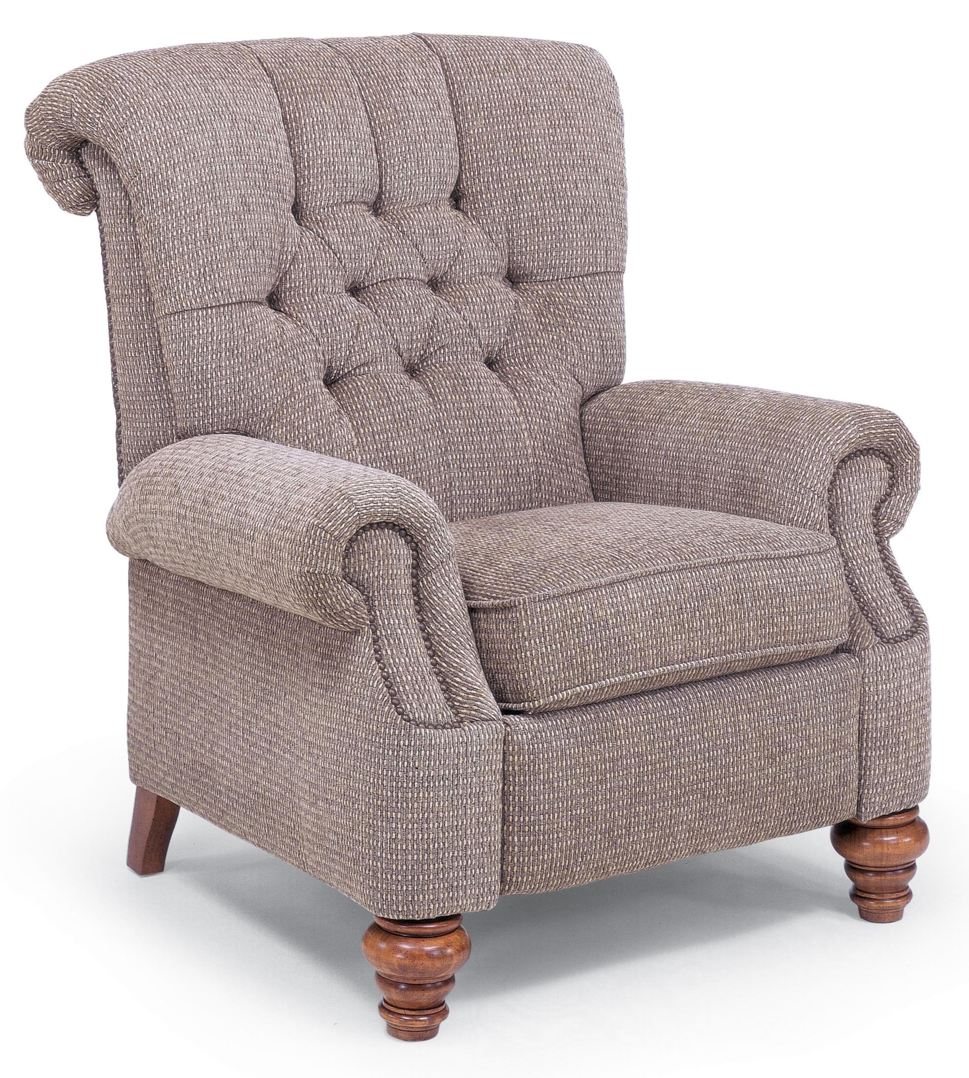 Accents Equestrian High Leg Recliner by Flexsteel at Rooms and Rest
