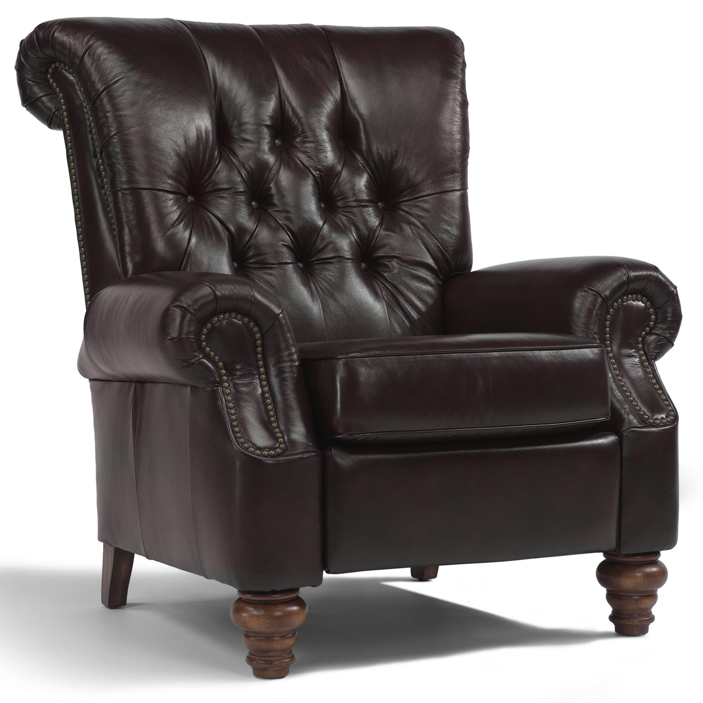 Accents Equestrian High Leg Recliner by Flexsteel at O'Dunk & O'Bright Furniture