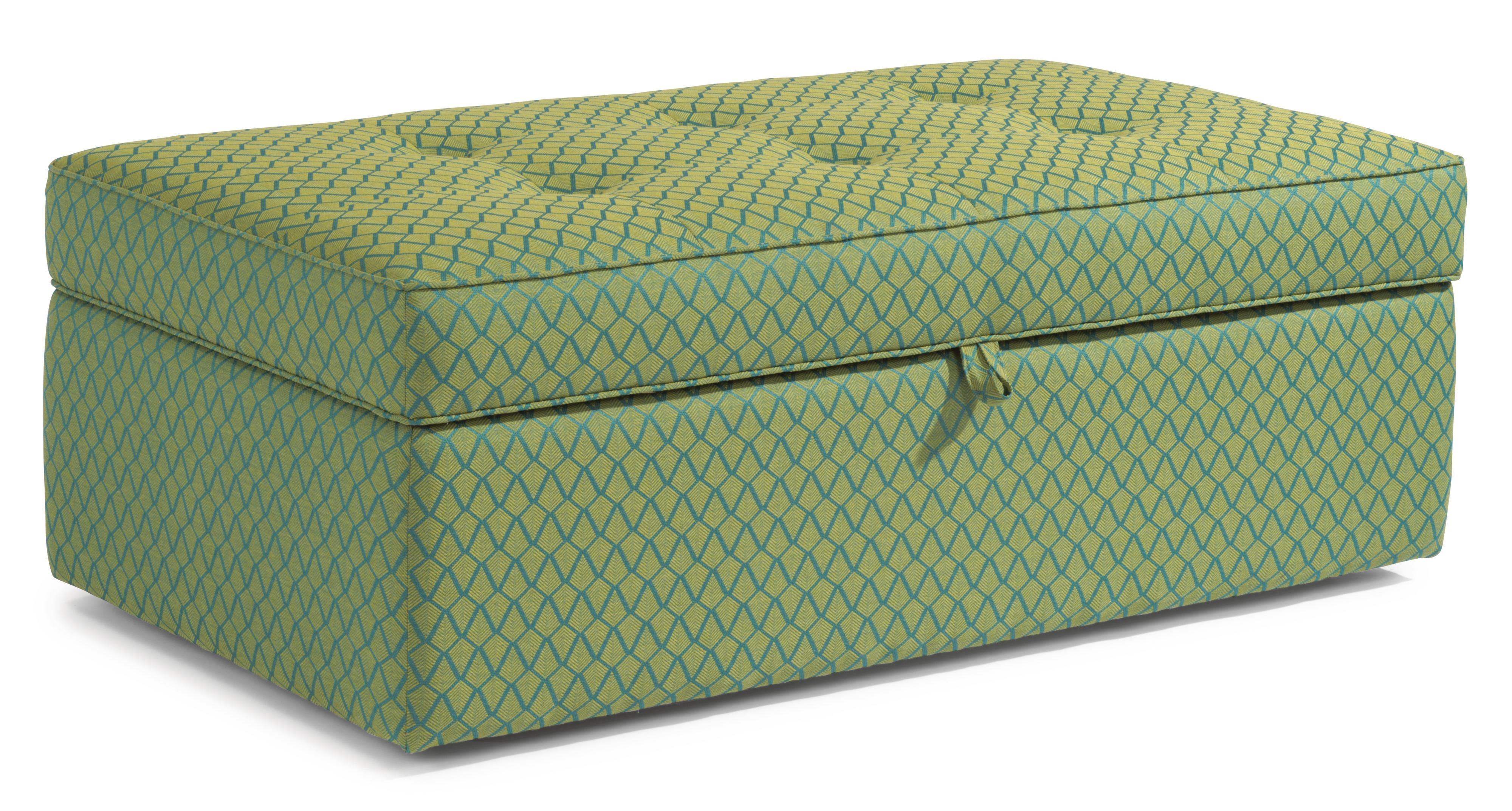 Accents Rectangular Storage Ottoman by Flexsteel at Furniture Superstore - Rochester, MN