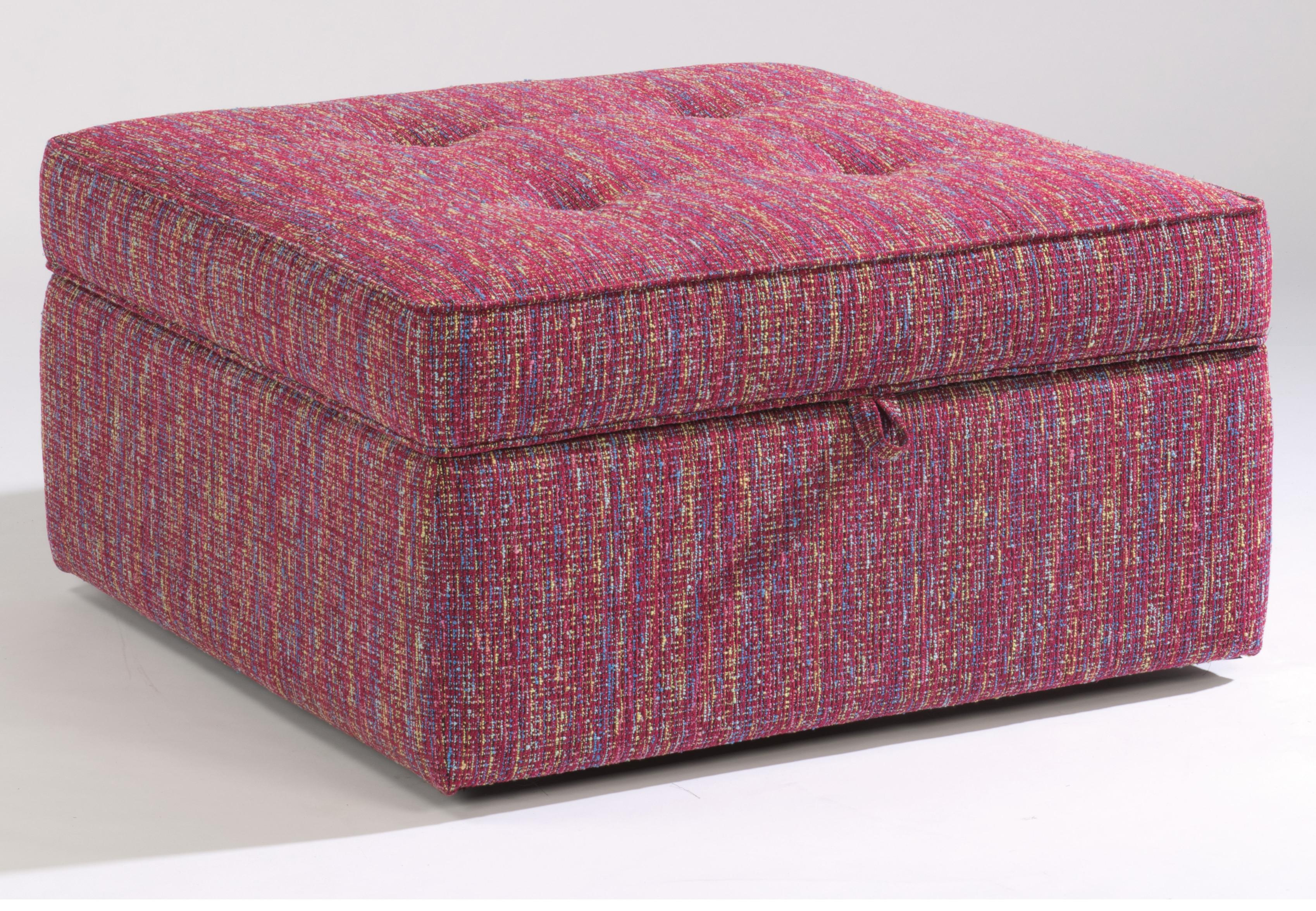 Accents Square Storage Ottoman by Flexsteel at Furniture Superstore - Rochester, MN
