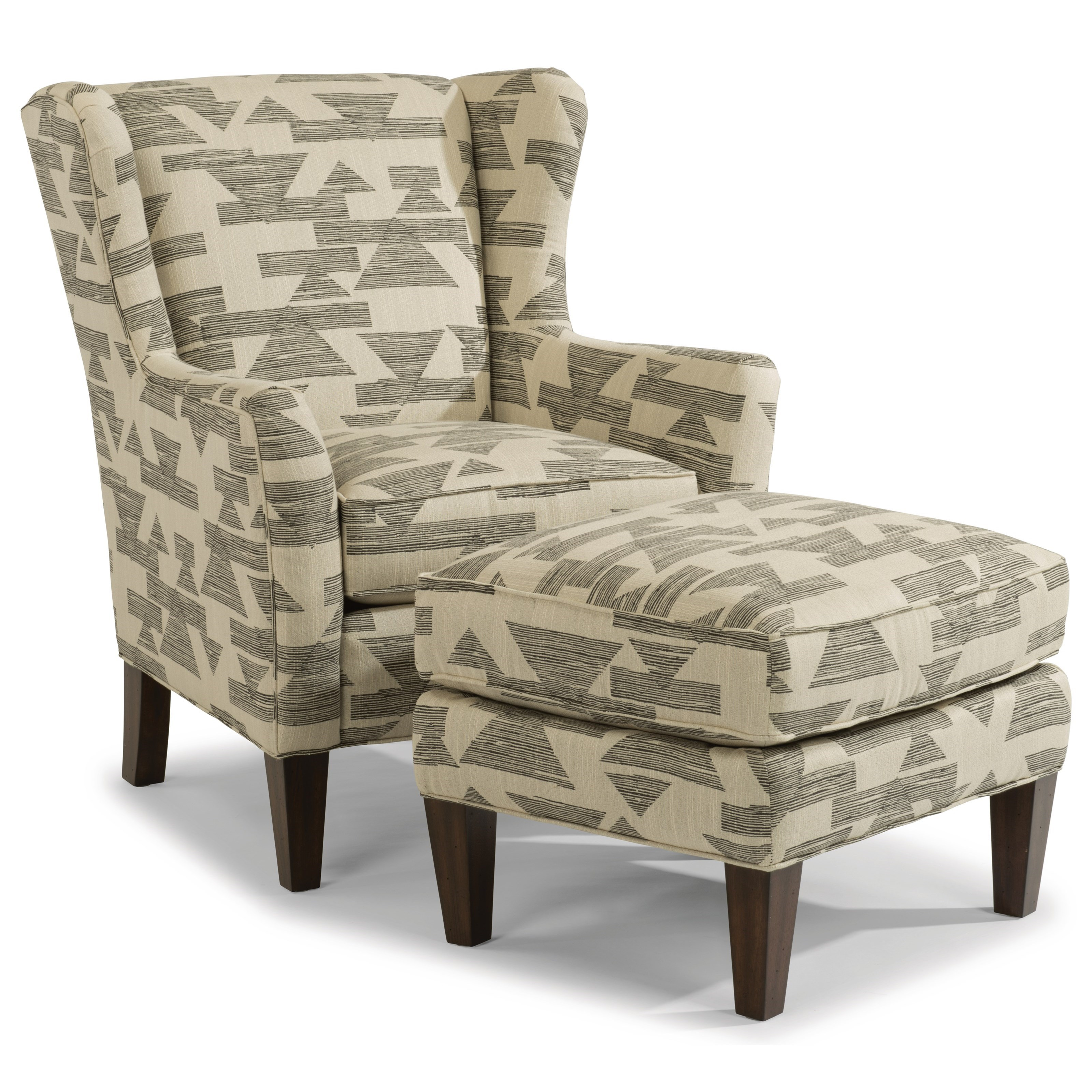 Ace Chair and Ottoman Set by Flexsteel at Steger's Furniture